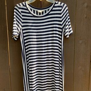 LOFT outlet striped swing dress